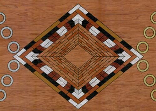 plateau de jeu de tock en bois à vendre, jeu d`équipe, de stratégie et de tactique