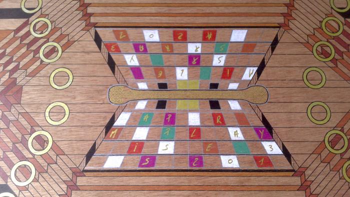 plateau de jeu de tock en bois missappleray