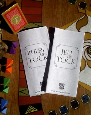 règles du jeu de Tock - rules of tock